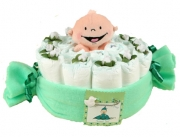 Pea in a Pod Diaper Cake