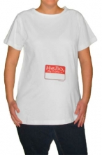 Name Tag Maternity T-Shirt