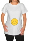 Smiley Face Maternity T-Shirt