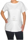 Peek-A-Boo Maternity T-Shirt